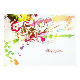 PixDezines tropical passion/diy background color 13 Cm X 18 Cm Invitation Card