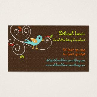 PixDezines Tweet, tweet, SEO marketing/DIY color Business Card