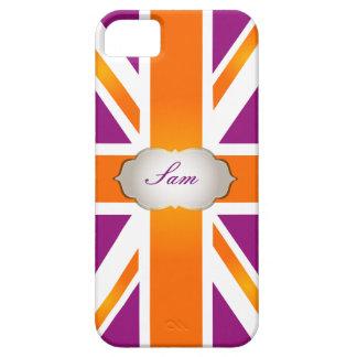 PixDezines union jack/raspberry+orange iPhone 5 Cover