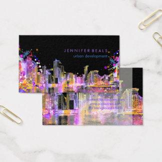 PixDezines urban grunge lakeshore color run♥ Business Card