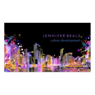 PixDezines urban grunge lakeshore color run♥ Pack Of Standard Business Cards