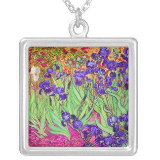 PixDezines van gogh iris/st. remy Silver Plated Necklace