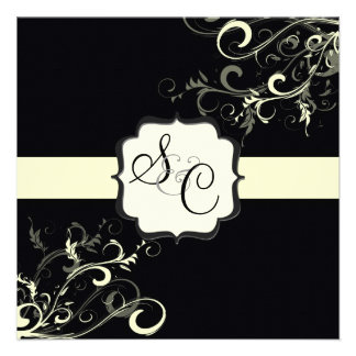 PixDezines vanilla swirls diy background color Custom Invite