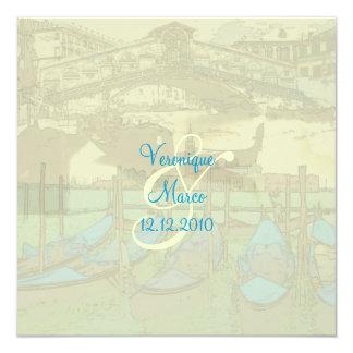 PixDezines Venezia+Rialto Bridge/Color 13 Cm X 13 Cm Square Invitation Card