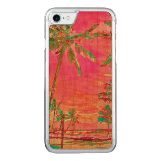 PixDezines Vintage Beach/Hawaii/Hot Pink Carved iPhone 8/7 Case