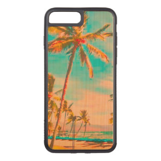 PixDezines Vintage Beach/Hawaii/Teal Carved iPhone 8 Plus/7 Plus Case