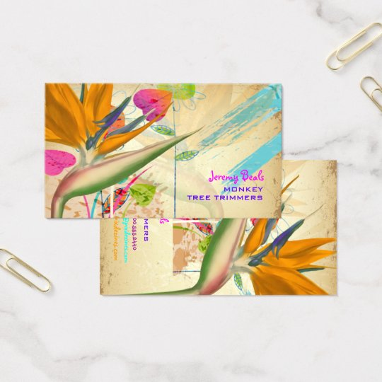 PixDezines vintage bird of paradise ♥♥♥ Business Card