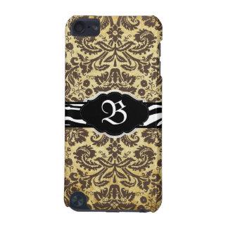 PixDezines Vintage Brown Desiree Damask/zebra iPod Touch 5G Covers