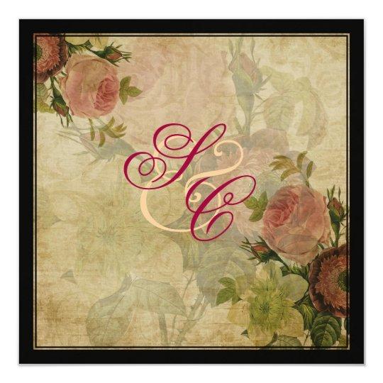 PixDezines vintage cottage roses Card