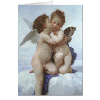 PixDezines Vintage, Cupid and Psyche as Children Card