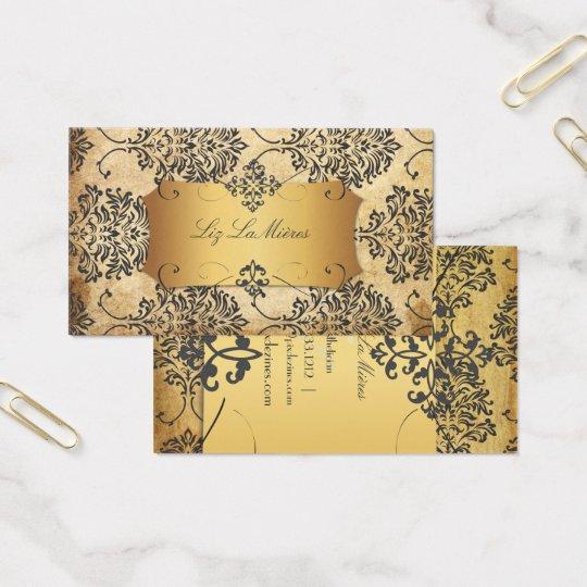 PixDezines Vintage Florentius Damask Business Card