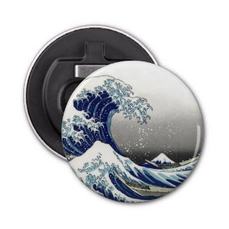 PixDezines Vintage, Great Wave, Hokusai 葛飾北斎の神奈川沖浪 Bottle Opener