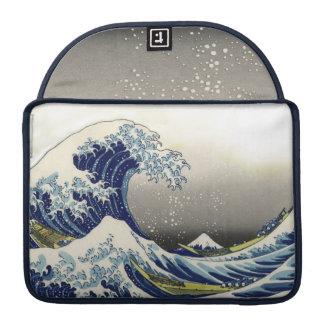 PixDezines Vintage Great Wave Hokusai 葛飾北斎 神奈川沖浪 Sleeves For MacBook Pro