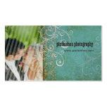 PixDezines Vintage Grunge Damask / Aqua Pack Of Standard Business Cards