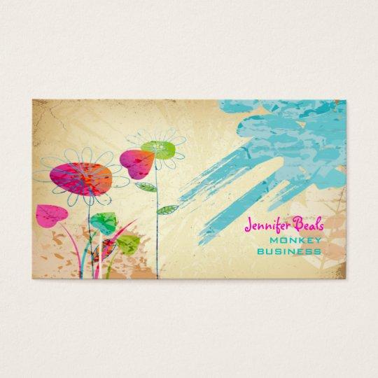 PixDezines Vintage Grunge Floral ♥♥♥♥ Business Card