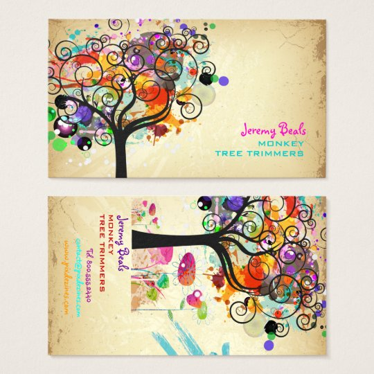 PixDezines VINTAGE GRUNGE TREE TRIMMERS ♥♥♥♥ Business Card