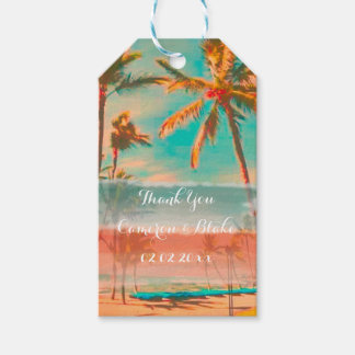 PixDezines vintage hawaii/beach Gift Tags