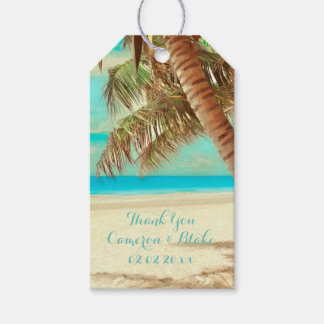 PixDezines vintage hawaii beach Gift Tags