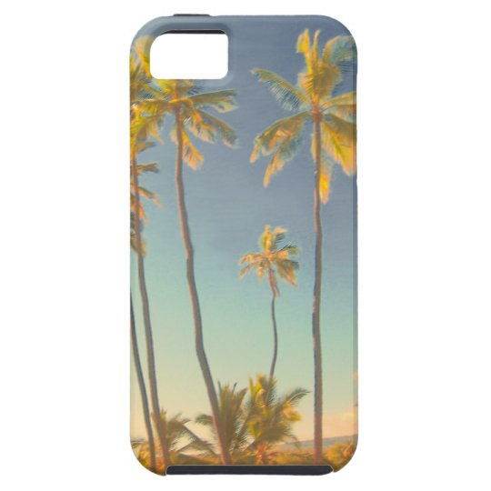 PixDezines vintage hawaiian beach/honaunau/blue Case For The iPhone 5