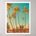 PixDezines vintage hawaiian beach/honaunau Poster
