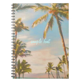 PixDezines vintage hawaiian beach Notebooks