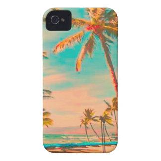 PixDezines Vintage Hawaiian Beach Scene/teal Case-Mate iPhone 4 Case