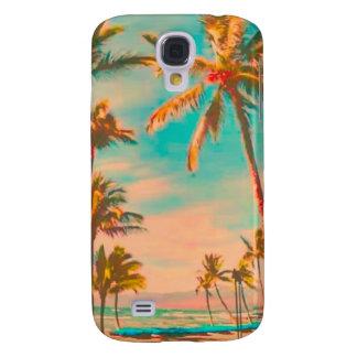 PixDezines Vintage Hawaiian Beach/teal Galaxy S4 Case