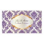 PixDezines vintage la paloma damask/lavender Pack Of Standard Business Cards