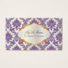 PixDezines vintage la paloma damask/lavender Business Card