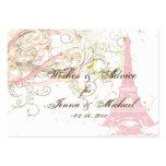 PixDezines Vintage La Tour Eiffel Advice Cards Business Cards