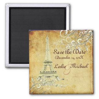 PixDezines Vintage La Tour Eiffel, Save the Date Magnet