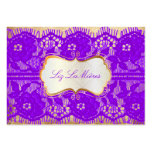 PixDezines Vintage Lace-Up/violet Pack Of Chubby Business Cards