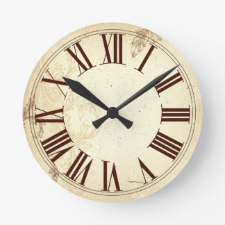 PixDezines Vintage Old English clock