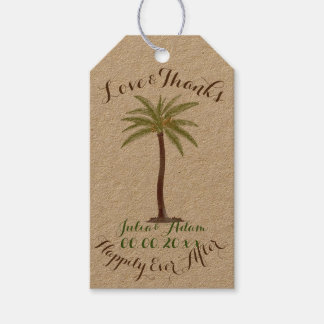 PixDezines vintage palms/thank you tags