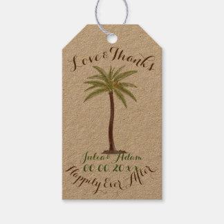 PixDezines vintage palms/thank you tags