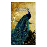 PixDezines vintage peacock+lace/diy fonts Pack Of Standard Business Cards