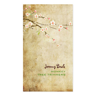 PixDezines vintage pink cherry blossoms♥♥ Business Card Templates