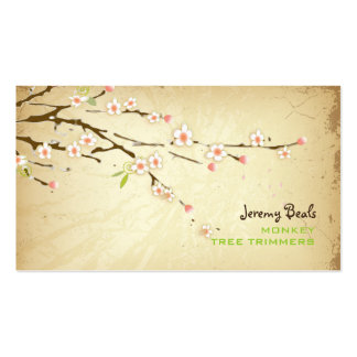 PixDezines vintage/pink cherry tree trimmers ♥♥♥ Business Cards