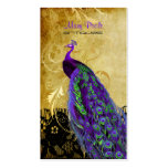 PixDezines vintage purple peacock+lace/diy fonts Pack Of Standard Business Cards