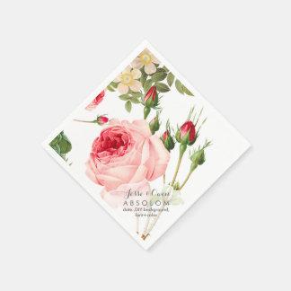 PixDezines Vintage Roses/Botanical Art Disposable Napkin