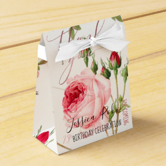 PixDezines Vintage Roses/Botanical Art Favour Box