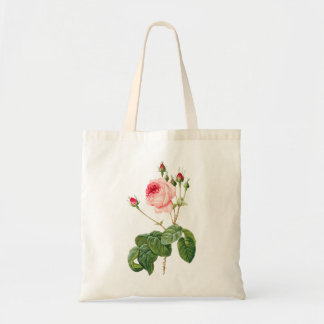 PixDezines Vintage Roses/Redoute Illustration/ Tote Bag