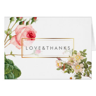 PixDezines Vintage Roses/Redoute/Thank You Card