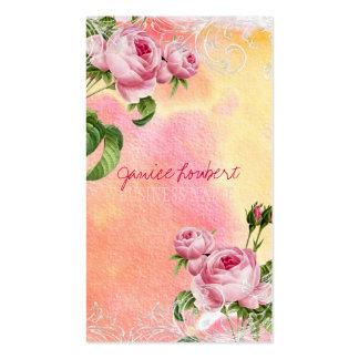 PixDezines vintage roses/watercolor Business Card Templates