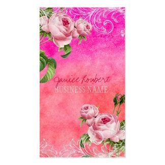 PixDezines vintage roses/watercolor Business Card