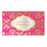 PixDezines vintage tanza damask/faux gold+pearl Pack Of Standard Business Cards