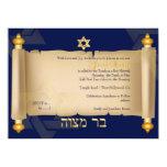 PixDezines vintage torah scroll bar mitzvah Personalized Announcements