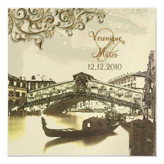 PixDezines Vintage Venezia+Rialto Bridge Card