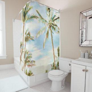 PixDezines Watercolor Affects/Hawaii/Beach Shower Curtain