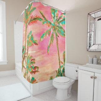 PixDezines Watercolor effects/Hawaii/Beach Shower Curtain
